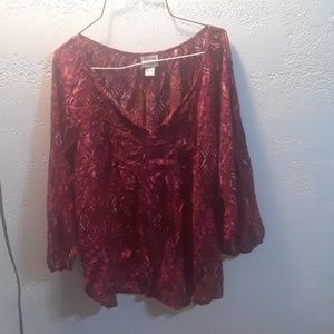 Mossimo Supply Co. RED Blouse